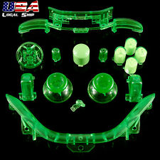 Custom RB LB Button Kits Mod for Microsoft Xbox 360 Controller Transparent Green