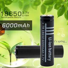 3.7V 6000mAh 18650 Li-ion Rechargeable Battery for Flashlight#T