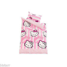"HELLO KITTY Copripiumone e federa set ""Candy Stripe"" Kids Cartoon Design"