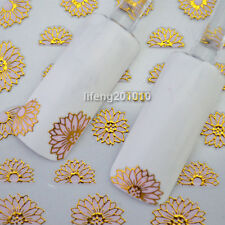 3D Nail Art Stickers Decal Decoration Tool Hot stamping Pale Pink Flowers PTJ019