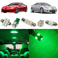 4x Green LED lights interior package kit for 2000-2005 Toyota Celica TC6G