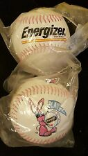 2 Energizer Bunny Baseballs NEW in original plastic bag