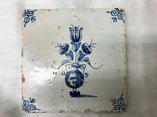 A Charming 18th Century Dutch Delft Blue & White Tile Circa 1700