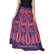 Indian Women Ethnic Floral Rapron Printed Cotton Long Skirt Wrap Around Skirt