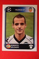 PANINI CHAMPIONS LEAGUE 2010/11 # 173 VALENCIA FC SOLDADO BLACK BACK MINT!