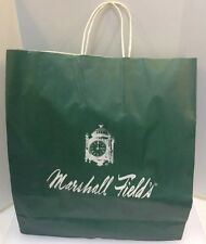 Marshall Field's Fields Green Paper Shopping Bag Collectible Clock 18 x 16