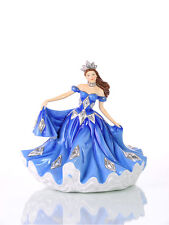 THE ENGLISH LADIES CO SAPPHIRE WALTZ DOLL FIGURINE, NEW AND BOXED