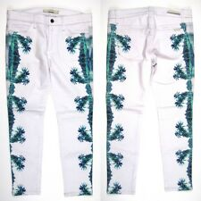Joes Jeans Womens 28 The High Water Palm Beach Green Trees Skinny High Rise