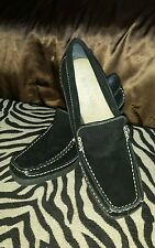 Aerosoles women black shoes, size 7.5M, leather/ suede, wedge.