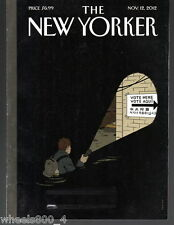 "The New Yorker Magazine ""Undeterred"" November 12, 2012 Subscription Issue"