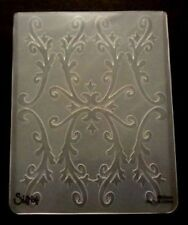 Sizzix Large Embossing Folder COUNTRY FLOURISH FLOWERS fits Cuttlebug & Wizard