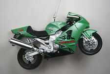 Kawasaki Christmas Ornament Green ZX12R Ninja Motorcycle Diecast