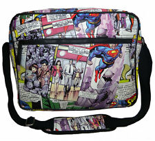 OFFICIAL DC COMICS SUPERMAN COMIC STRIP COLLAGE TILED PRINT MESSENGER BAG *NEW*