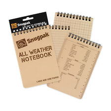 Snugpak All Weather Notebook, Large 3inx5in -TAN outdoor survival recon NEW