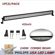 Philips 42inch 240W LED Driving Work Light Bar COMBO Lamp Offroad Truck ATV BAOT