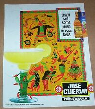 1995 Jose Cuervo Gold Tequila margarita -put some jingle in your bells- PRINT AD