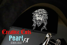 Jesus BLACK PEARL + MOP Sticker Vinyl Decal for ANY Guitar and BASS Body