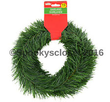 *15 FT WIRED HOLIDAY GREEN PINE GARLAND CHRISTMAS DECOR INDOOR/OUTDOOR FREE SHIP
