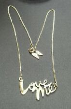 Victoria's Secret Love Me Necklace - Gold Plated Brass ~ Limited Edition 2015