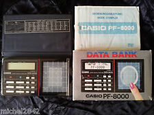 CASIO PF 8000 DATA BANK calculatrice digitale 1984 RARE TTBE Informatique