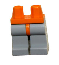 LEGO MINIFIGURE LEGS WITH ORANGE HIPS AND GREY LEGS CONSTRUCTION MINIFIG PANTS