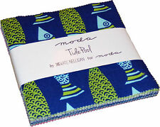 "Tide Pool Moda Charm Pack 42 100% Cotton 5"" Precut Quilt Squares"