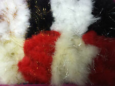 Marabou  Swansdown Feather Trim With Tinsel  Many Colours Listed