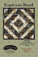 Espresso Road - Bonnie Sullivan Quilt Pattern - Uses Woolies Flannel Jelly Roll
