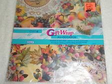 Vintage Cleo Gift Wrap All Theme Fruit Leaves Unopened