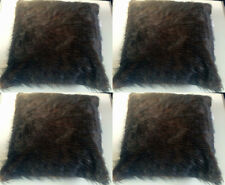 "BNWT 4 X EXTRA LARGE FAUX MONGOLIAN FUR SOFT CUSHION COVERS 22"" X 22"" PACK OF 4"