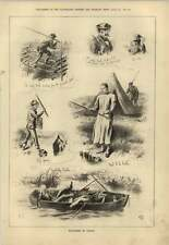 1879 Flyfishing In Canada Sketches