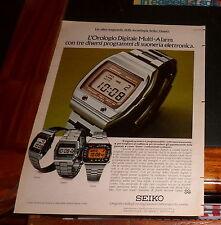 Advertising Italian Pubblicità Werbung '77 Seiko l'orologio digitale multi alarm