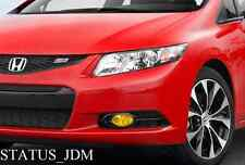 2012 Honda Civic Si Sedan Yellow Fog Light Overlays Tint FB2 Spoon Megen hfp JDM