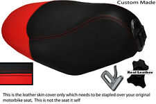 RED AND BLACK CUSTOM FITS PEUGEOT LOOXOR 50 100 125 REAL LEATHER SEAT COVER
