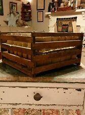Antique Wood Humpty Dumpty Egg Crate 2 Trays W/Inserts AAFA