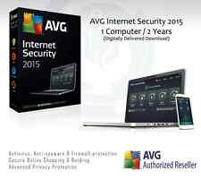 AVG internet security 2015 - 1 ordinateur / 2 ANS Protection | clé de licence uniquement