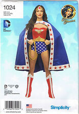 Wonder Woman DC Comics Simplicity Costume Sewing Pattern Size 6 8 10 12 14