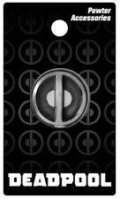 Marvel Comics Deadpool Eyes Logo Metal Pewter Lapel Pin, NEW UNUSED