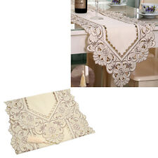 Fashion Embroidered Hollow Flower Cutwork Lace Table Runner Tablecloth Wedding