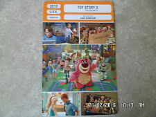 CARTE FICHE CINEMA 2010 TOY STORY 3 DISNEY
