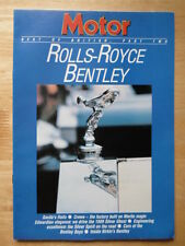 BENTLEY ROLLS ROYCE 1986 Motor Supplement brochure - Silver Ghost, Phantom VI