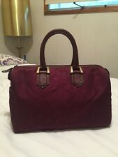 Christian Dior Burgundy Monogrammed Medium Speedy style Satchel