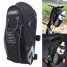 Outdoor Cycling Bicycle Bike MTB Saddle Rear Seat Bag Phone Bottle Storage Pouch
