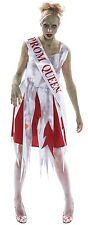 Ladies Zombie High School Prom Queen Girl Halloween Fancy Dress Costume Outfit