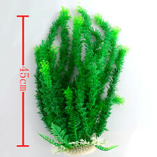 Artificial Green Large Plastic Aquarium Water Plant for Fish Tank Decor Ornament