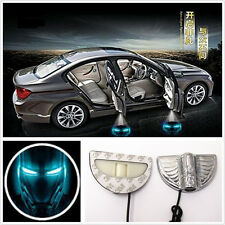 2x Wireless Car Door LED Welcome Laser Light Ghost Shadow Iron Man Logo Projecor
