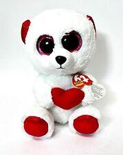 ORSO CUDDLY BEAR PELUCHE OCCHI GRANDI Ty Beanie boo's LOVE S. VALENTINO