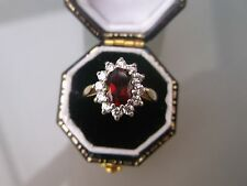 Women's 9ct Gold Quality Red Spinel Ring Size J Weight 2g Stamped