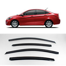 New Smoke Window Vent Visors Rain Guards for Hyundai Accent 4Door 2011 - 2013