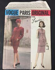 60's VTG VOGUE PARIS ORIGINAL Two Piece Dress Lanvin Pattern 1446 sz 10